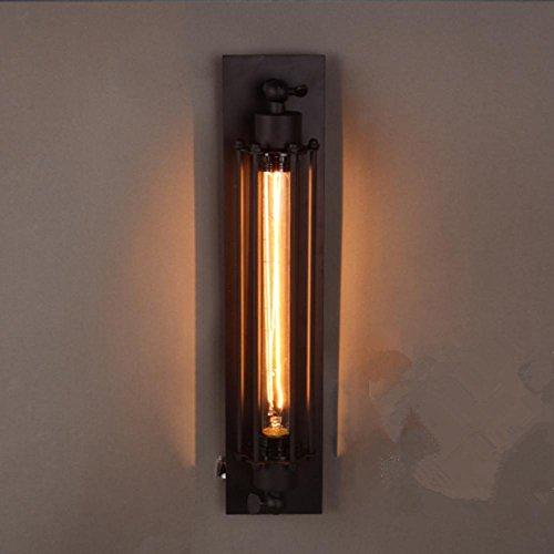 ZHIYUAN Kreative Bekleidungsgeschäft bar Café Beleuchtung/Vintage Eisen industrielle Wind Querflöte Wandleuchte