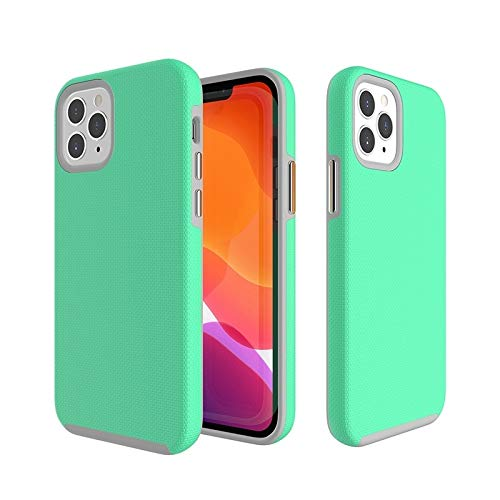 Dmtrab para Funda Protectora Antideslizante TPU + PC for iPhone 12 Mini (Color : Green)