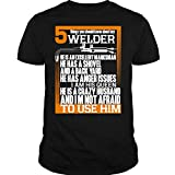 ILCTee 5 Thing You Should Know T Shirt, About My Welder T Shirt Unisex (XL,Black)