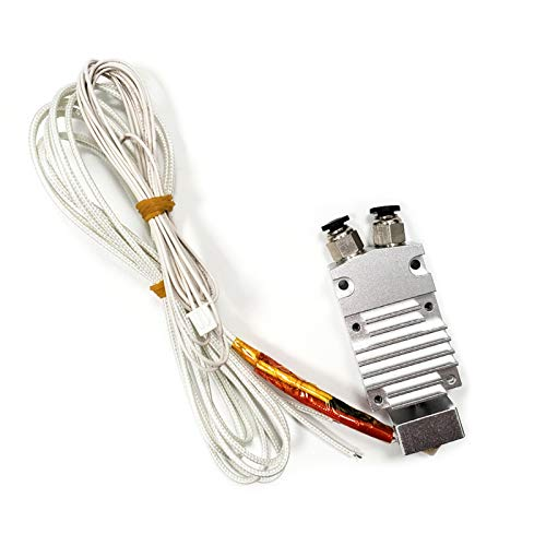 pedkit Out Remote Extruder,2 in 1 Out Dual Color Hotend Extruder Kit with Heater Wire Thermistor 0.4mm Brass Nozzle 24V for 2E Model 3D Printer