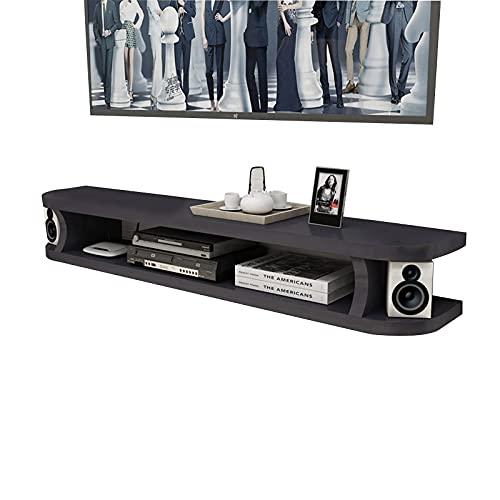 Peakfeng Consola de gabinete de TV Flotante, Caja de televisión, Caja de Juego, Centro de Entretenimiento, Adecuado para Hotel/Sala de Estar/Dormitorio/balcón (Color : B, Size : 100CM)