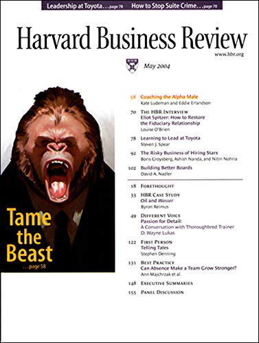 Harvard Business Review, May 2004 copertina
