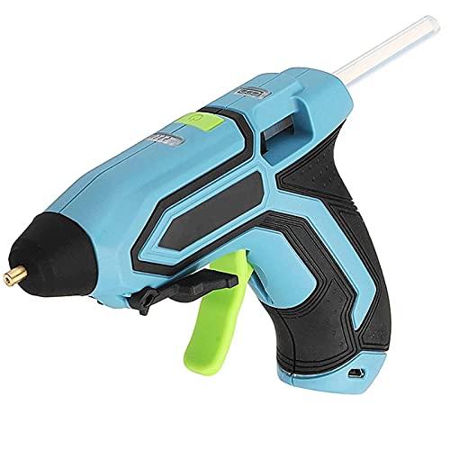 Pistola de Pegamento Caliente 3,6 V, máquina de Pegamento Caliente inalámbrica, Kits de máquina de Pegamento Fundido Recargables USB con 10 Barras de Pegamento para Manualidades de Arte DIY