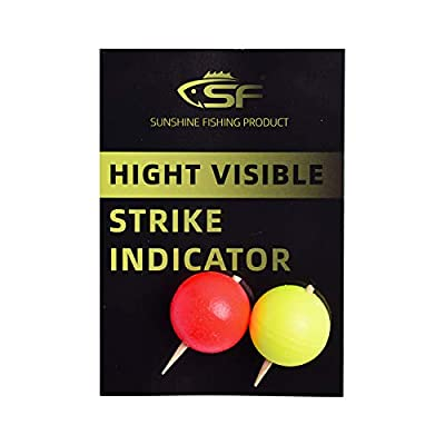 SF Foam Strike Indicators Bobbers Fly Fishing with Wooden Tooth Pick Floating Foam Fishing Tackle Accessories
