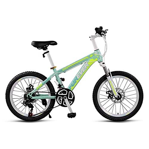 ZXQZ Bicicletas de Montaña de 24 Velocidades, Bicicletas de Carretera para Niños de 22 '' con Frenos de Disco Dobles Delanteros Y Traseros, para Niños y Niñas de 140-165 Cm (Color : Green)