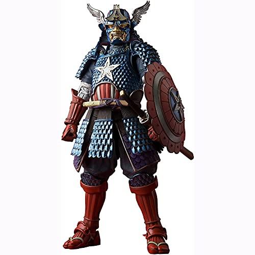 Yuxunqin Star Wars:Meisho Manga Realización Samurai Capitán América 6 Pulgadas Estatua Figuras de acción