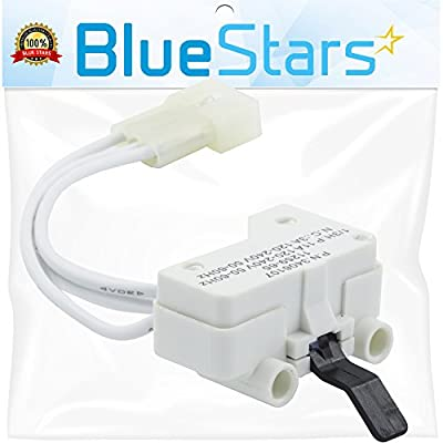 Ultra Durable 3406107 Dryer Door Switch Replacement part by Blue Stars - Exact fit for Whirlpool & Kenmore Dryer - Replaces 3405100, 3405101, 3406100, 3406101, 3406109