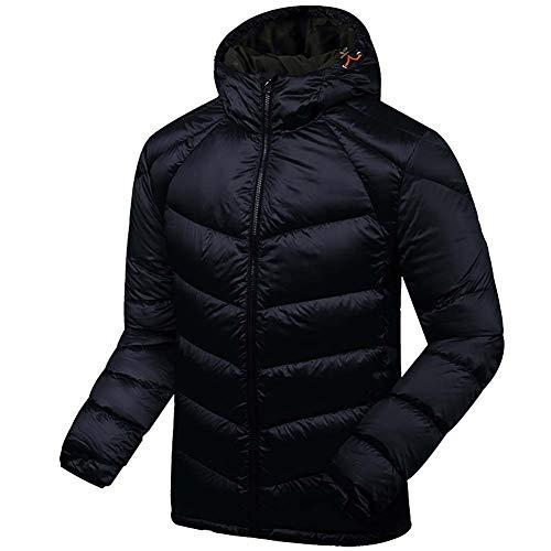 down jacket Veste en Duvet pour Hommes_Showerproof Poids LéGer Manteau Chaud à Capuche Rembourré - Deal pour Temps Froid Et Humide Automne Et Hiver Noir/Gris/Bleu/Marron L XL 2XL 3XL