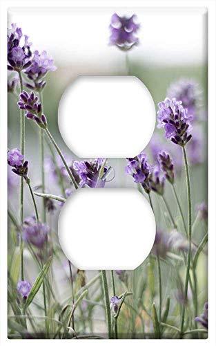 Switch Plate Outlet Cover - Lavender Purple Lavender Flowers Violet Blossom