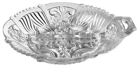 Indiana Glass Killarney Clear Glass ( 2-Part Relish Dish )