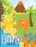 Dino Book: Dinosaur Coloring Book for Kids, A Great Gift for Boys & Girls - 50 Unique Illustrations Including T-Rex, Velociraptor, Triceratops, Stegosaurus, and More