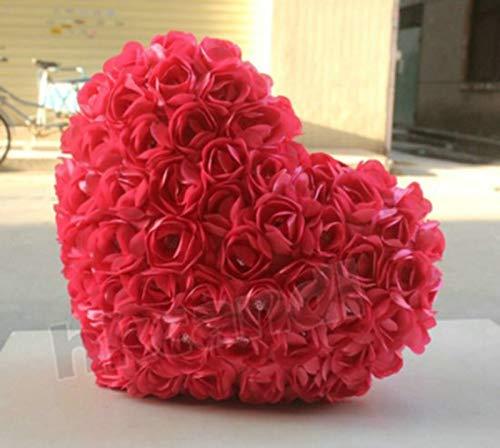 feilai Forma de corazón de la moda almohada de la silla almohadas de sostener almohada rosas silla cojín juguete sostener sofá almohadas de peluche juguetes de peluche