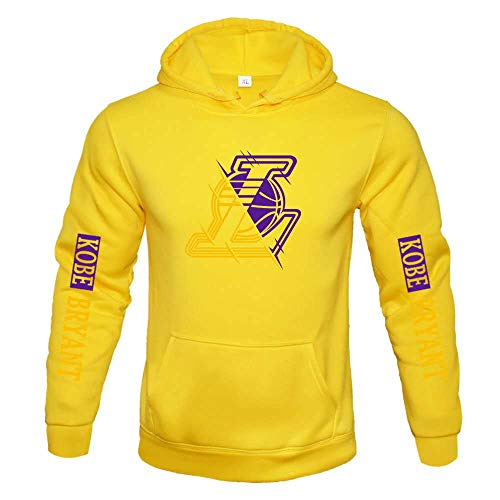 Basketball Jersey Pullover Lakers Stickerei Ball Anzug Basketball Sport Plus samtweiche Haut warm warm Sweater Jacke Basketball Trikot 1Bequeme Klamotten Multi-Colored-M