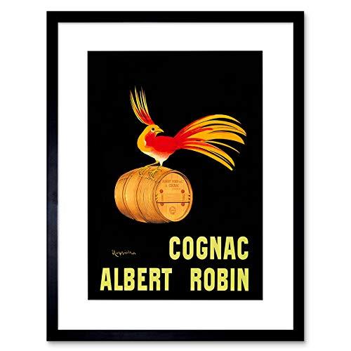 Wee Blue Coo Ad Drink Alcohol Albert Robin Cognac Brandy Bird Frankrijk Omlijst Muur Art Print