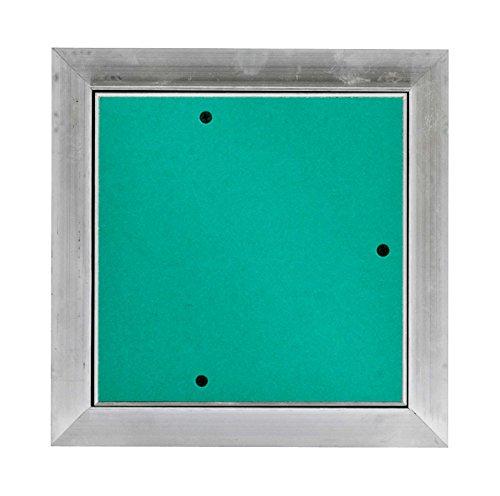 MW multi werkzeug Revisionsklappe 200 x 200 mm mit 25mm GK-Einlage imprägniert für Feuchtraum geeignet Aluminium-Rahmen 20 x 20 cm