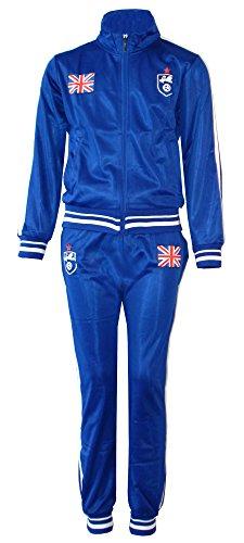 AEL Fußball Trainingsanzug Jungen Top Training Kit Set Farbe: England Blau Größe: 9-10 Jahre / 12