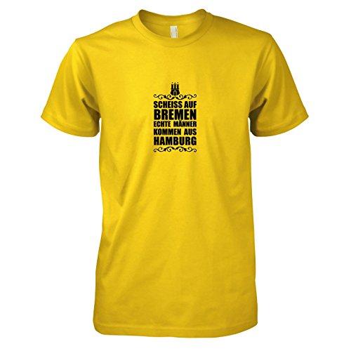 Texlab - Scheiss auf Bremen - Herren T-Shirt, Größe XXL, gelb