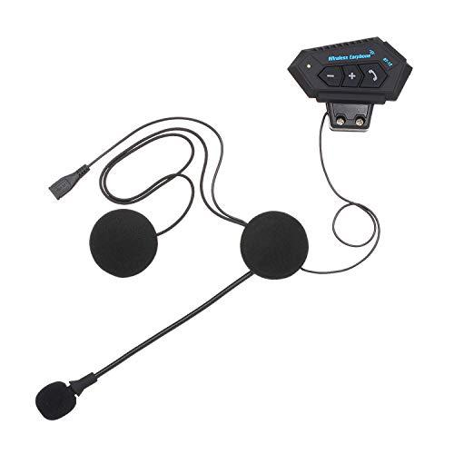 Docooler Motorhelm hoofdtelefoon Bluetooth 4.0 + EDR headset draadloze helm hoofdtelefoon handsfree met microfoon muziek-aan-besturing USB-opladen