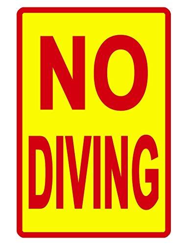 "Schild mit Aufschrift ""No Diving Pool"", langlebig, kein Rost, Aluminium, wetterfest, Metallblechschild, 30,5 x 20,3 cm"