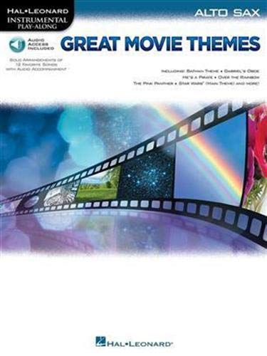 Great Movie Themes - -For Alto Saxophone- (Book & Online Audio): Play-Along, Sammelband, Download (Audio) für Alt-Saxophon: Instrumental Play-Along (Hal Leonard Instrumental Play-along)