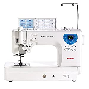 SYS Score: 9.3 Janome MC-6300P Professional Heavy-Duty Computerized Quilting Sewing Machine w/Extension Table, Walking Foot, Darning Foot and More!