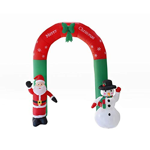 Inflatable Christmas Snowman, Arch Santa Snowman With LED Lights Christmas Garden Decorations Venue