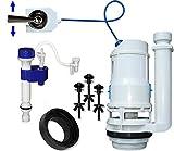 FlushSaver 3' DRAIN STANDARD LEVER HANDLE Dual-Flush Deluxe DIY Conversion Kit - FITS STANDARD 3' DRAIN TWO PIECE TOILETS. Converts standard toilets into efficient dual-flush systems.