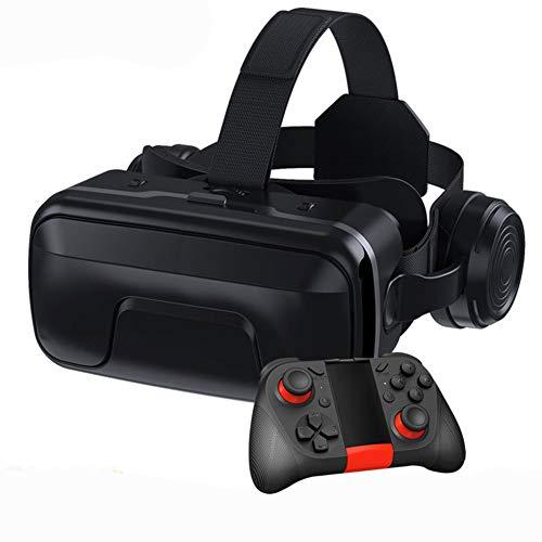 WYW VR Gafas de Realidad Virtual,Adecuado para Pantalla de TeléFono Inteligente de 4.7-6.0 Pulgadas,para Iph X/7/ 7plus /6s 6/Plus, Galaxy S8/ S7, para Juegos Visión PanoráMico Immersivo