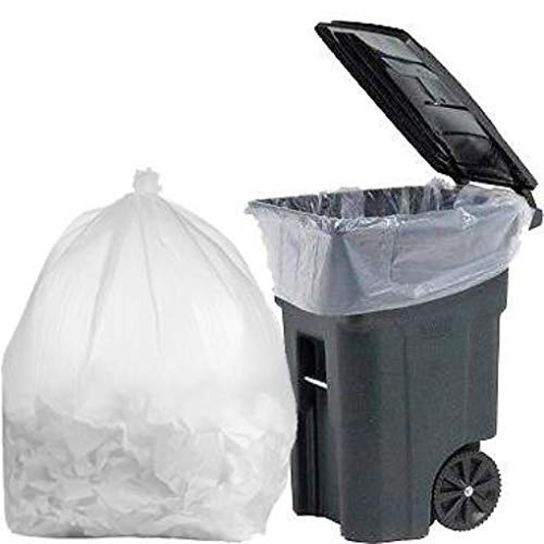 PlasticMill 100 Gallon Contractor Bags: Clear, 3 Mil, 67x79, 1 Bag (Sample).
