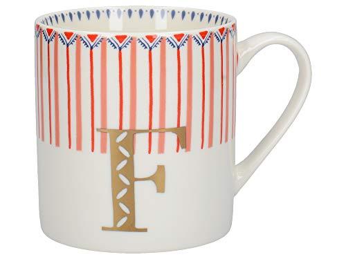 """Creative Tops Alphabet-Tasse mit \""""F\""""-Design, feines Porzellan, mehrfarbig, 350 ml (6 von 26 Buchstaben-Tassen)"""