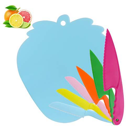 Hasidi Küchenmesser für kinder, schneidebretter für kinder, kindersicher kochshows 6 farbmesser pro beilagen, obst - & gemüsesorten sägen