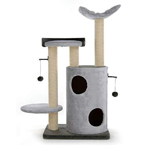 FTFTO Productos para el hogar Marco de Escalada para Gatos Plataforma de Salto para Gatos Juguete de Gato Multifuncional Caja de Agarre para Gatos Cubo de sisal Nido de Gato