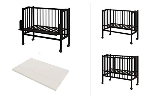 ComfortBaby 00082001-00WB Side Bed Plus 2-in-1 Brown