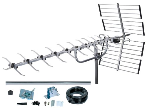 Antenne TV Exterieur TNT SLx 27985K4 Kit Antenne 64 Elements avec Filtre 4G integre