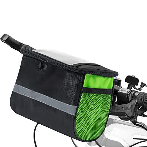 Lixada Bolsa Manillar Bicicleta Multifuncional Portátil Bolsa para Manillar de MTB Bicicleta...