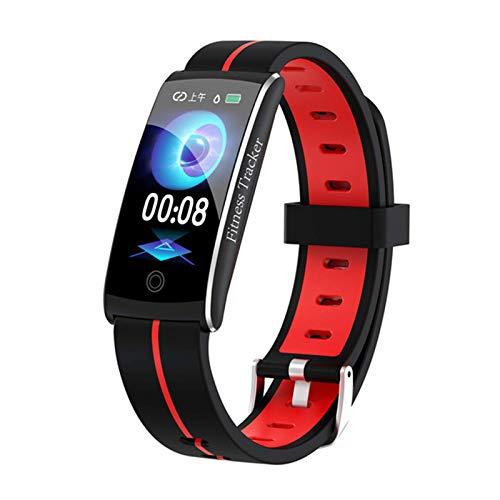 LLM Pulsera inteligente Android IOS hombres y mujeres ritmo cardíaco presión arterial fitness Tracker actividad impermeable mensaje deportivo cinta (C)