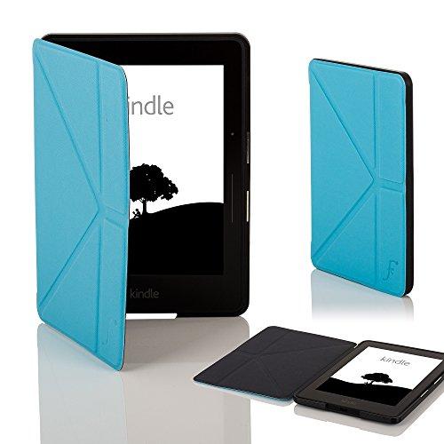 Forefront Cases Funda para Amazon Kindle Voyage Origami Funda Carcasa Stand Case Cover - Delgado Ligera, Protección Completa del Dispositivo y Smart Auto Sueño Estela Función - Azul Claro