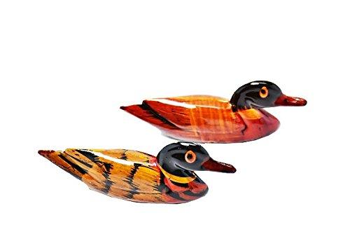 DMtse Feng Shui Pair Mandarin Ducks for Love & Fidelity Resin (2 1/2 inch Small Size)