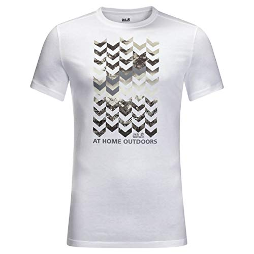 Jack Wolfskin Chevron T-Shirt Homme T-Shirt Homme White Rush FR : XL (Taille Fabricant : XL)
