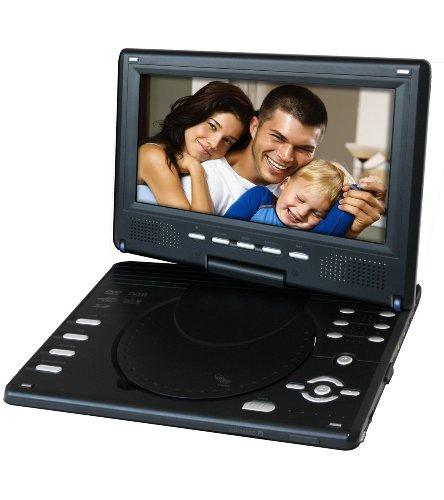Odys Slim TV 900 R-Sky Tragbarer DVD Player (22,9 cm (9 Zoll) TFT LC-Display, DVB-T Tuner, USB 2.0) schwarz