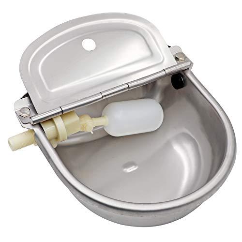 MUDUOBAN - Cuenco de Acero Inoxidable automático con válvula de flotación para Caballo, Ganado, Cabra, Oveja, Cerdo, Perro, Flotante, Suministros de Granja