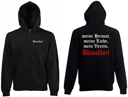 world-of-shirt Herren Kapuzenjacke Düsseldorf Ultras Meine Heimat