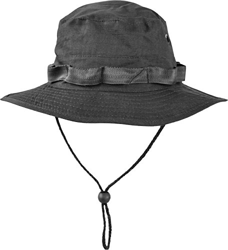 normani Australian Outdoor Hut Boonie Hat in vielen Farben und Grössen Farbe Schwarz Größe S