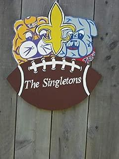 bawansign House Divided LSU Georgia tec Alabama Auburn Flordia Gators Football Door Hanger