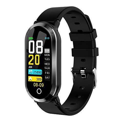 Smartwatch Fitness Armbanduhr Fitness Tracker Für Frauen Männer Kinder 0,96-Zoll-IPS-Farbtechnologie Sportuhr mit Schrittzähler Pulsmesser Wasserdicht zum Schwimmen Kompatibel mit iOS Android Handy