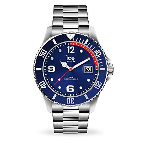 ICE-WATCH Ice Steel Blue Silver - Reloj Azul para Hombre con Correa de Metal, 015771 (Medium)