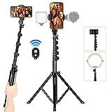 TAION FL019 Treppiede per smartphone Treppiedi per telefono con fotocamera Treppiedi da viaggio in alluminio leggero con morsetto...