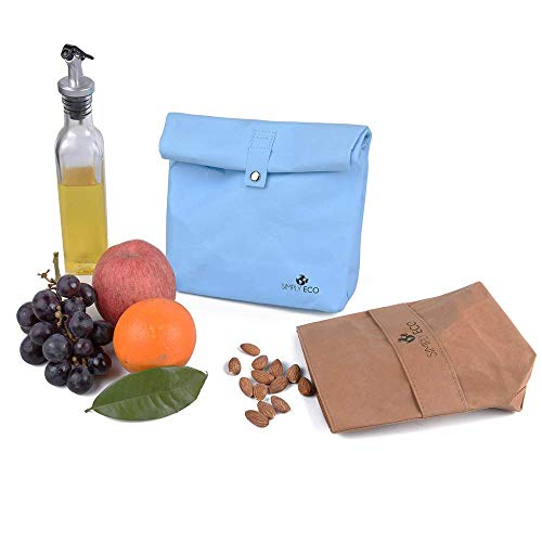 Simply Eco reusable sandwich bags & snack container for lunch.