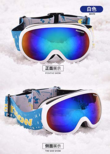 Generieke skibrillenoutdoor-skibril kinder-skibril dubbellaags anti-fog spiegel sferische kinder-skibril