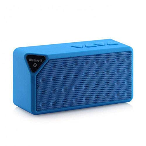 WOHAO Medios Dispositivo de Streaming Viajes Altavoz Bluetooth Wireless Mini portátil pequeño Altavoz del chasis del Altavoz MP3 Bluetooth (Color : Blue)